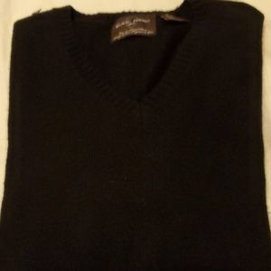 Black Brown 1826 Cashmere Sweater Sixe XL BLK